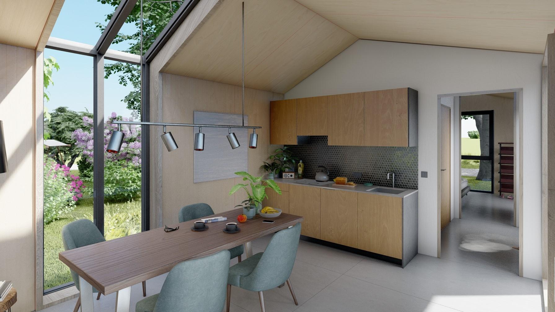 A Interior Kitchen